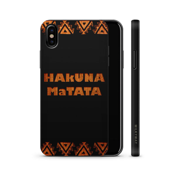 Wood  - Hakuna Matata - Milkyway Cases -  iPhone - Samsung - Clear Cute Silicone Phone Case Cover