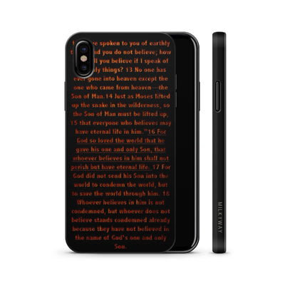 Wood  - John 3:16 - Milkyway Cases -  iPhone - Samsung - Clear Cute Silicone Phone Case Cover