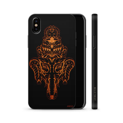 Wood  - Kolakolli Elephant - Milkyway Cases -  iPhone - Samsung - Clear Cute Silicone Phone Case Cover