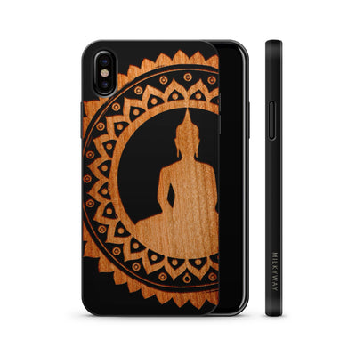 Wood  - Mandala Buddha - Milkyway Cases -  iPhone - Samsung - Clear Cute Silicone Phone Case Cover
