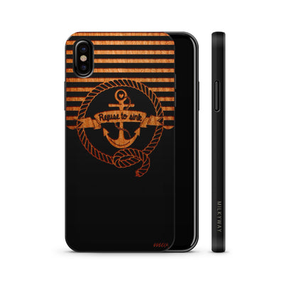 Wood  - Nautical Refuse to Sink - Milkyway Cases -  iPhone - Samsung - Clear Cute Silicone Phone Case Cover