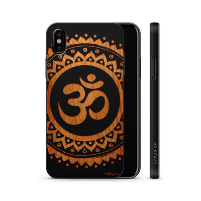 Wood  - Ohm Mandala - Milkyway Cases -  iPhone - Samsung - Clear Cute Silicone Phone Case Cover