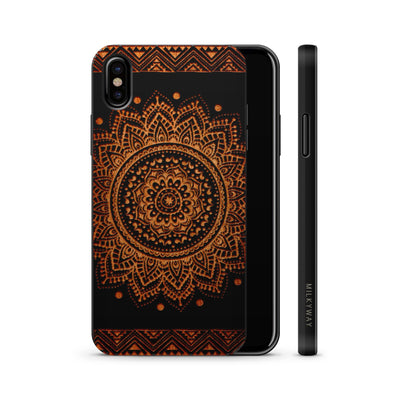 Wood  - Sundala Mandala - Milkyway Cases -  iPhone - Samsung - Clear Cute Silicone Phone Case Cover