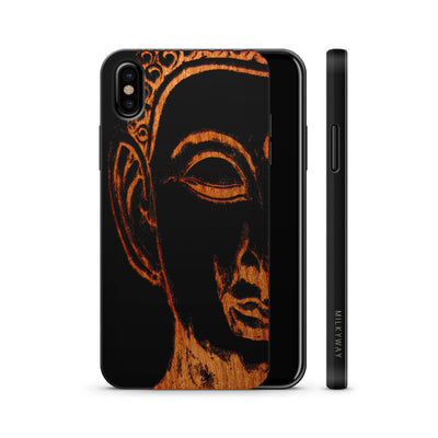 Wood  - Sydney Buddha - Milkyway Cases -  iPhone - Samsung - Clear Cute Silicone Phone Case Cover