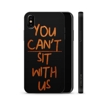 Wood  - You Can't Sit With Us - Milkyway Cases -  iPhone - Samsung - Clear Cute Silicone Phone Case Cover