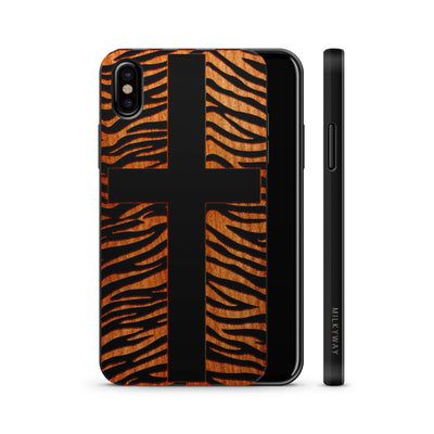 Wood  - Zebra Cross - Milkyway Cases -  iPhone - Samsung - Clear Cute Silicone Phone Case Cover
