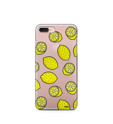 """CLEARANCE"" Yellow Lemon - Clear TPU Case Cover"