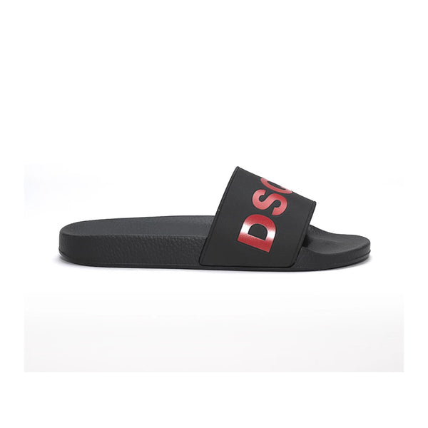 DSQUARED2 SLIDES BLACK/RED