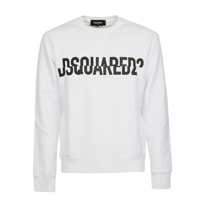 DSQUARED2 BROKEN SWEATER WHITE