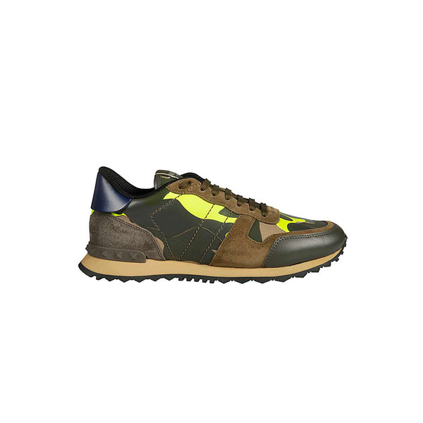 SNEAKERS ROCKRUNNER CAMO ARMY NEON YELLOW