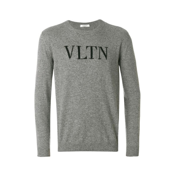 VALENTINO SWEATSHIRT WOOL VLTN GREY
