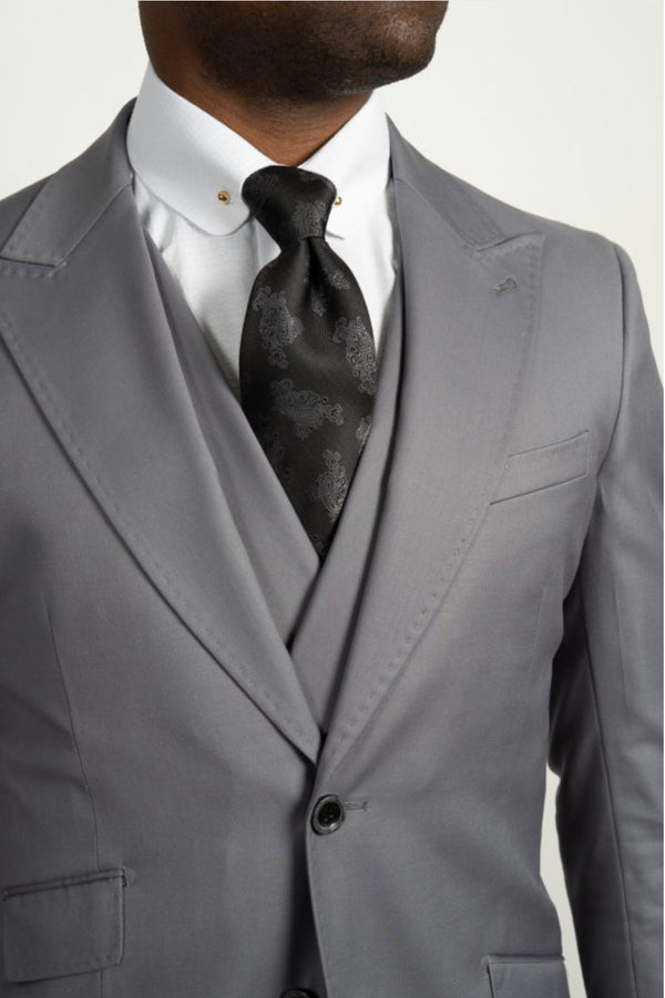 Three Piece Light Gray Suit