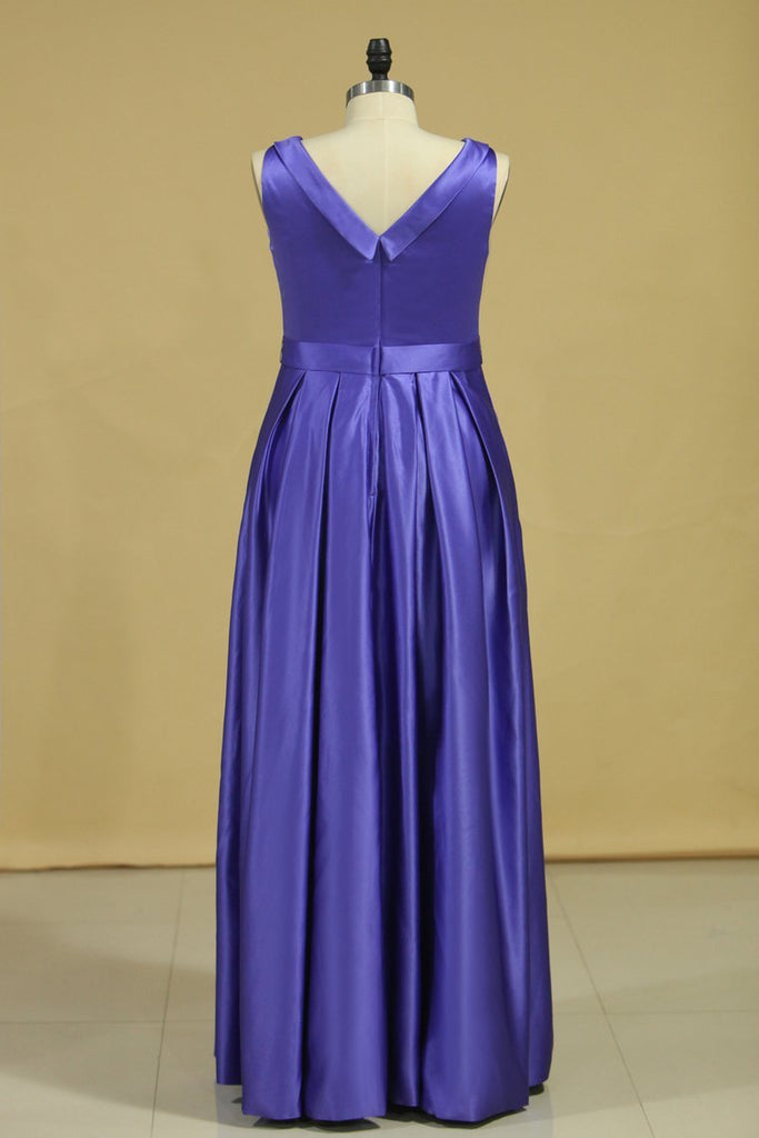 Regency Plus Size A Line Evening Dresses Cowl Neck Floor Length Satin With