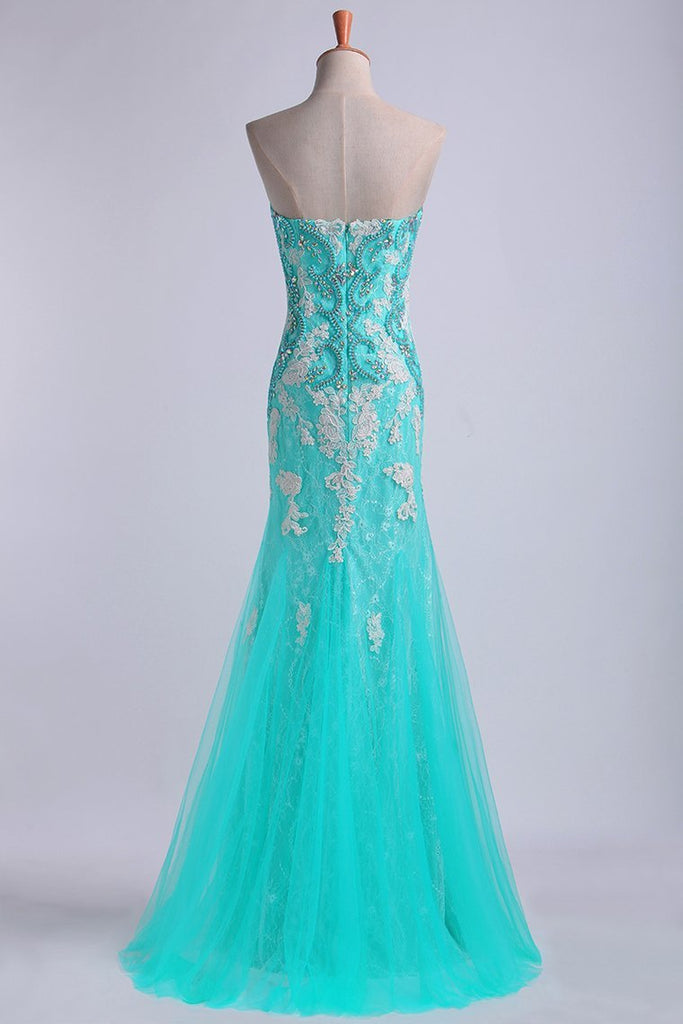 2019 Prom Dresses Strapless Column With Beading And