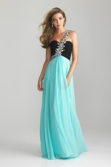Black Top 2020 Prom Dresses Sheath One Shoulder Floor