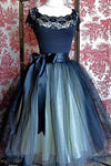 2021 Tulle Scoop With Sash Homecoming Dresses A Line