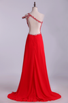 2019 Prom Dresses Sheath Floor Length One Shoulder With