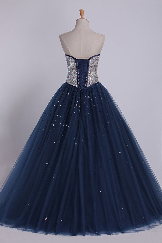 2021 Bicolor Quinceanera Dresses Sweetheart Ball Gown Floor-Length Beaded Bodice
