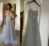 Elegant Spaghetti Straps Long Prom Dress Beautiful Prom Dresses Backless Evening Dresses