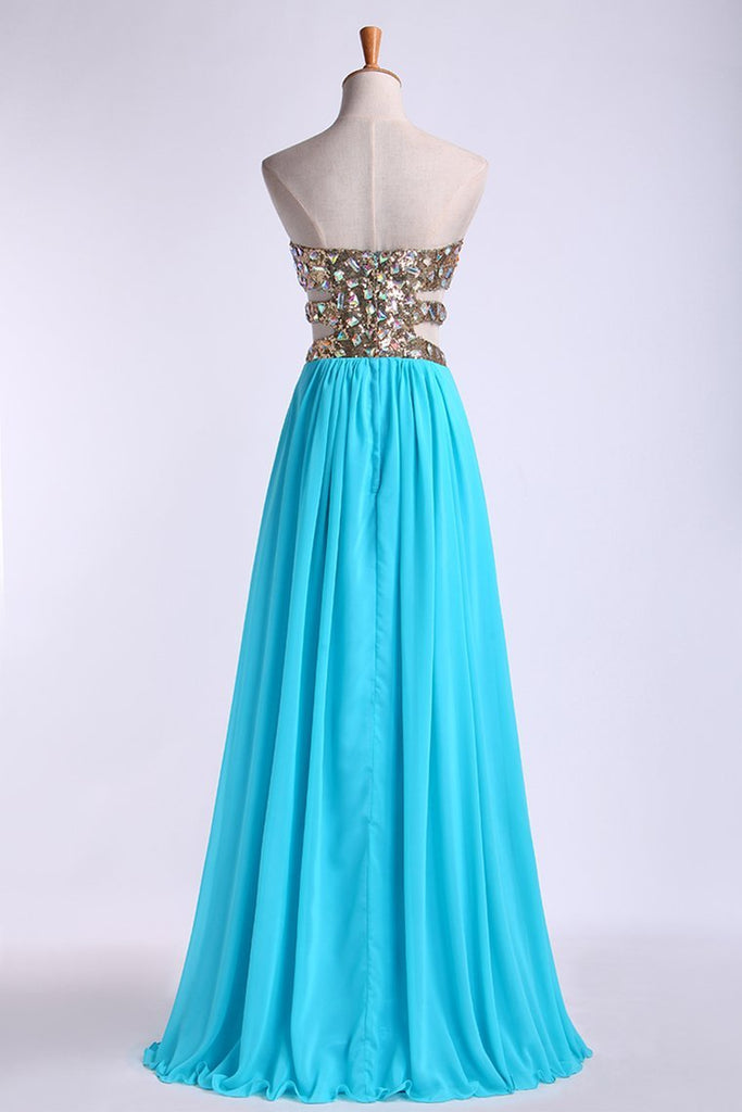 Prom Dresses A Line Sweetheart Floor Length Chiffon