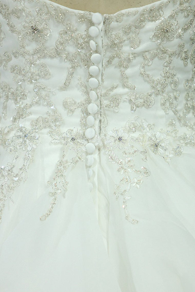 2019 Sweetheart Wedding Dresses A Line Organza With