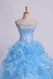 2019 Sweetheart Quinceanera Dresses Ball Gown Organza With