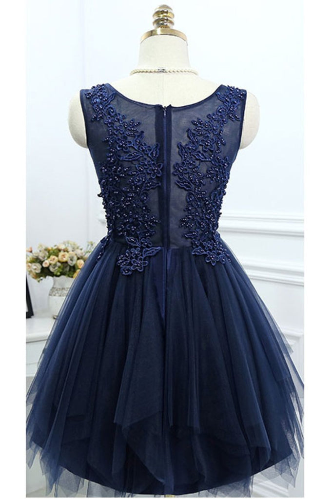 2019 Scoop Homecoming Dresses A Line Tulle With