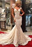 2019 Wedding Dresses Mermaid Off The Shoulder Lace With
