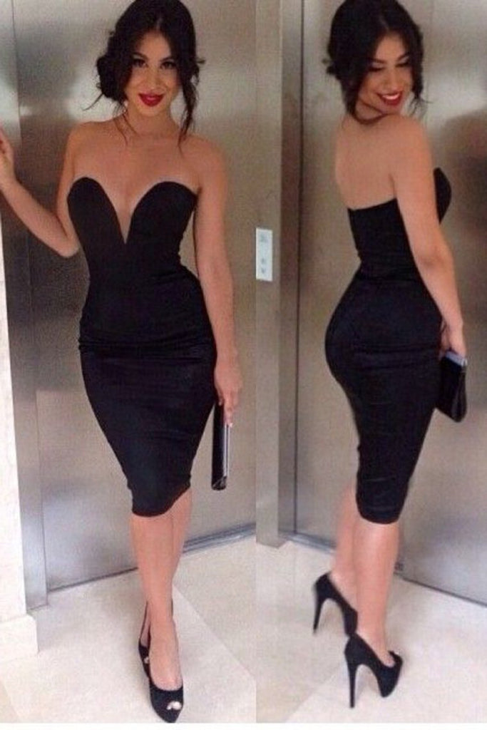 2021 New Arrival Sweetheart Cocktail Dresses Sheath Spandex Knee