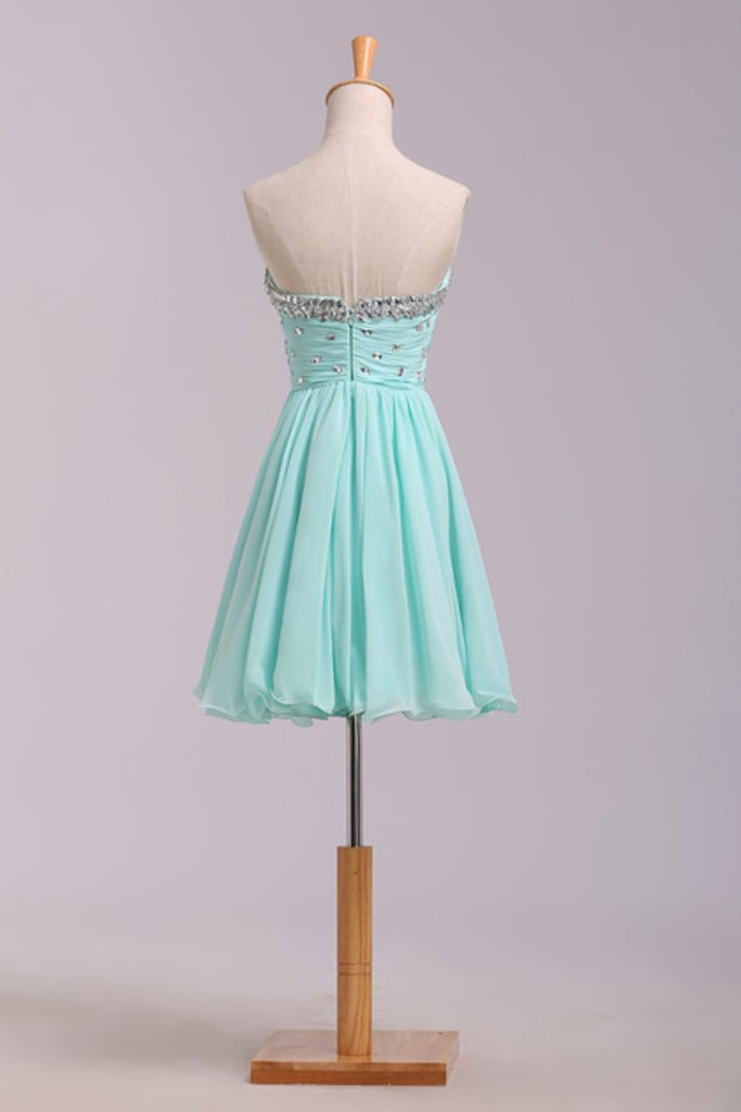 2019 Homecoming Dresses A Line Short/Mini Chiffon