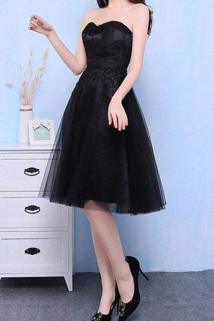 2019 New Arrival Homecoming Dresses Sweetheart Tulle With Applique And