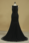 Prom Dresses Scoop Tulle With Applique And Beads
