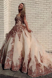 Rosewood Sequins Ball Gown Sweetheart Strapless Quinceanera Dresses with STC15661