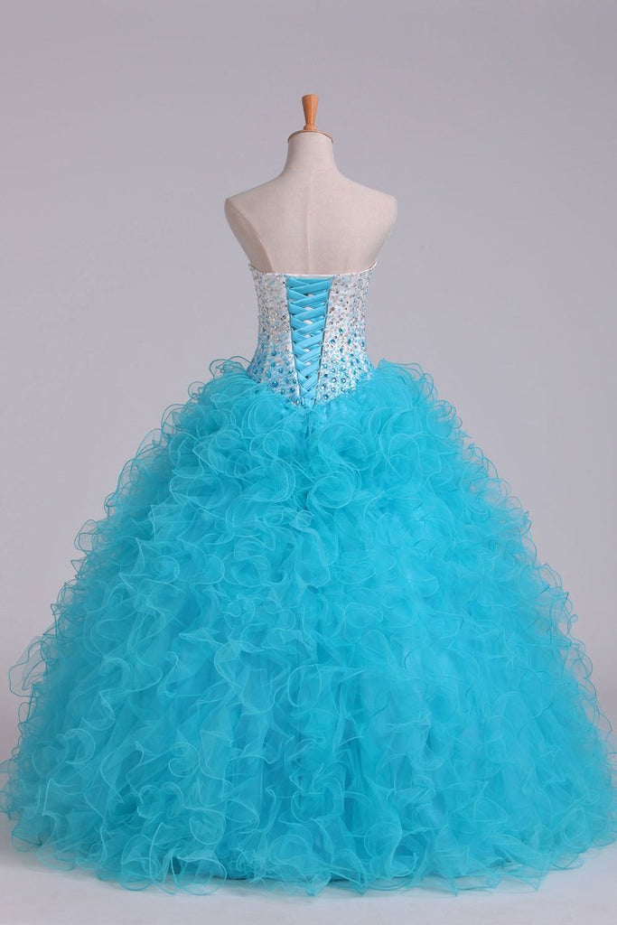 2019 Bicolor Sweetheart Quinceanera Dresses Ball Gown Floor-Length