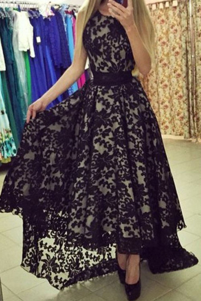 2019 New Arrival Prom Dresses A Line Scoop Lace With Sash