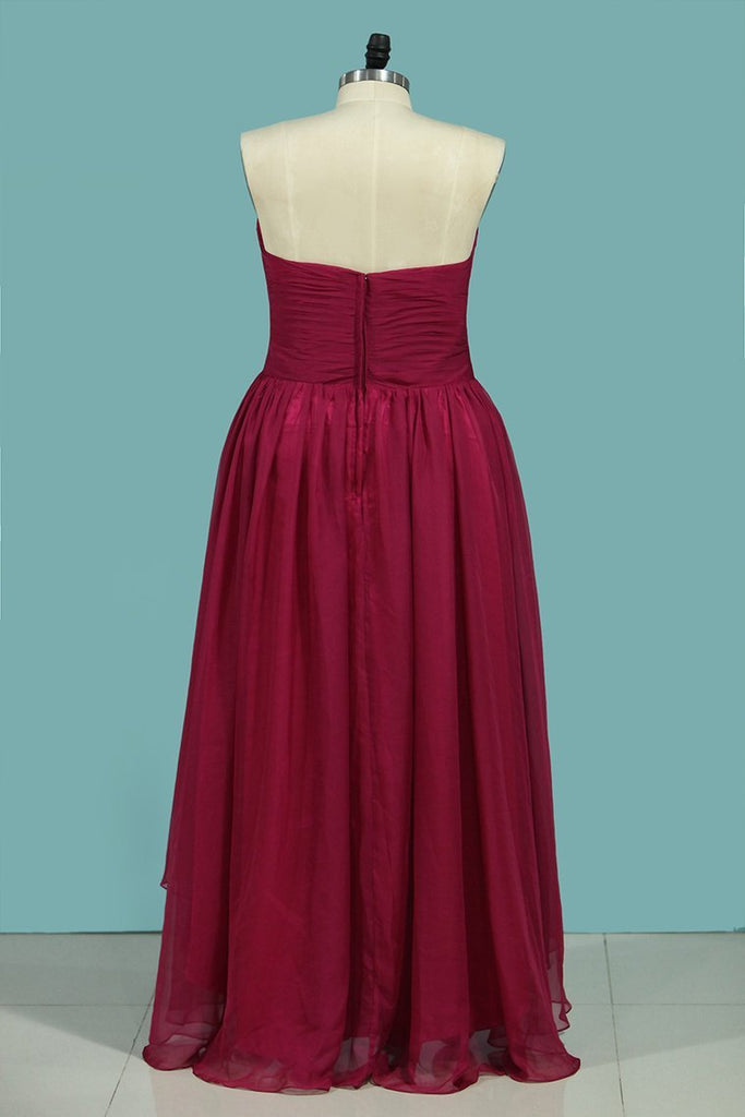 2019 Asymmetrical Bridesmaid Dresses Sweetheart Ruched Bodice A