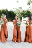 Simple Long Halter Bridesmaid Dresses, A-Line Backless Sexy Bridesmaid Dress STC15392