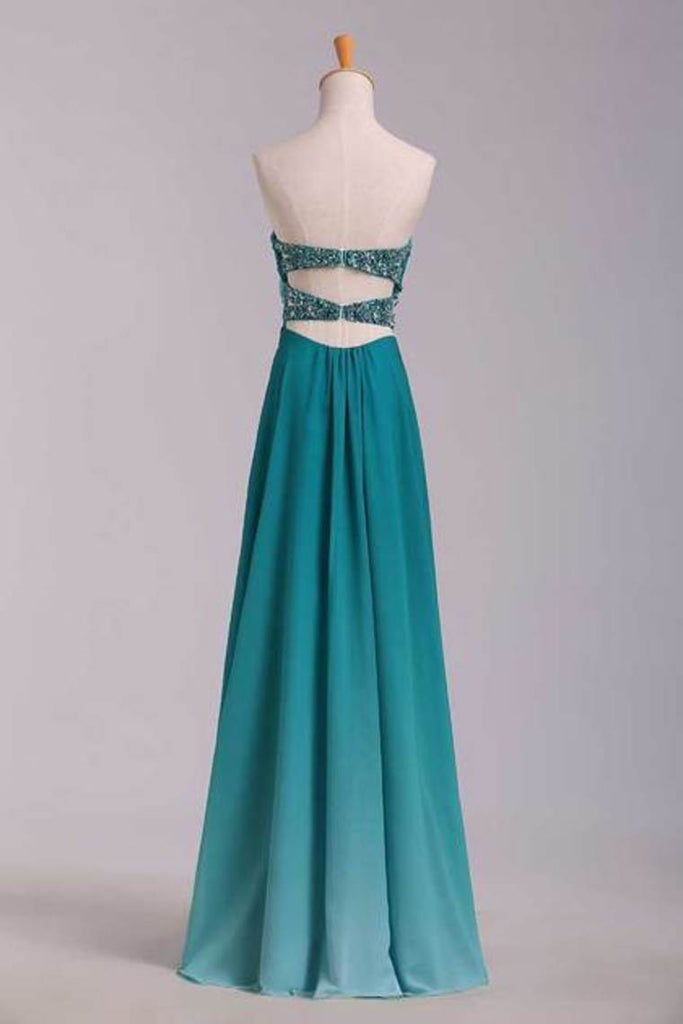 Prom Dresses A Line Sweetheart Floor Length Cross Back Colorful