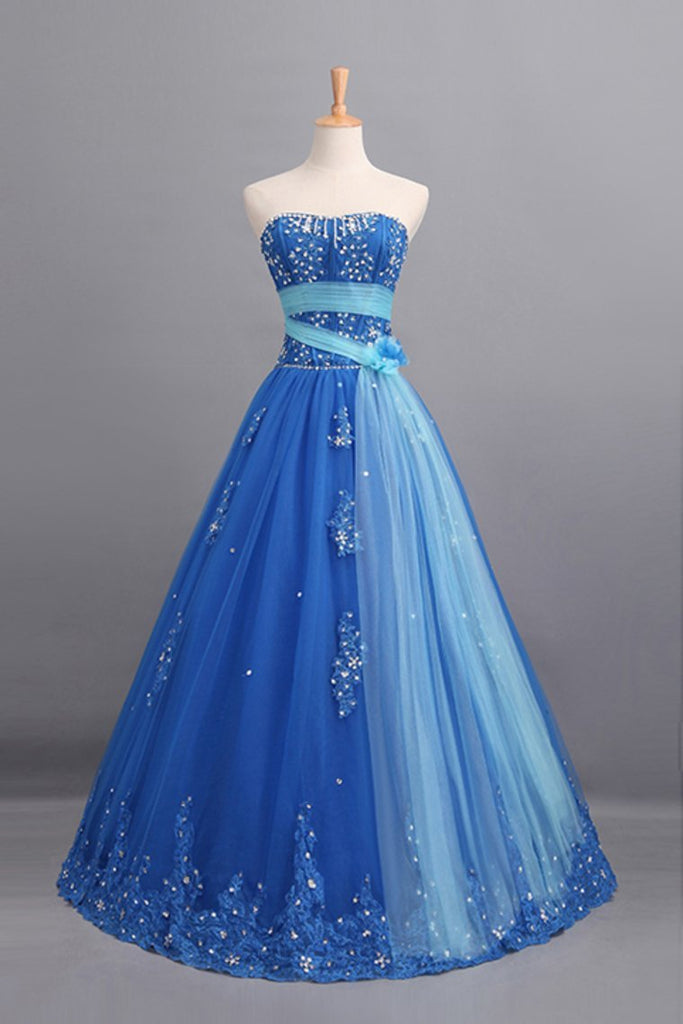 Fabulous Quineanera Dresses Scalloped Neckline A Line Floor Length Tulle