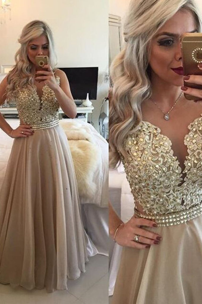 2021 Prom Dresses Scoop A Line With Sash And Applique