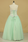 2021 Quinceanera Dresses Sweetheart Ball Gown Tulle With Applique Floor