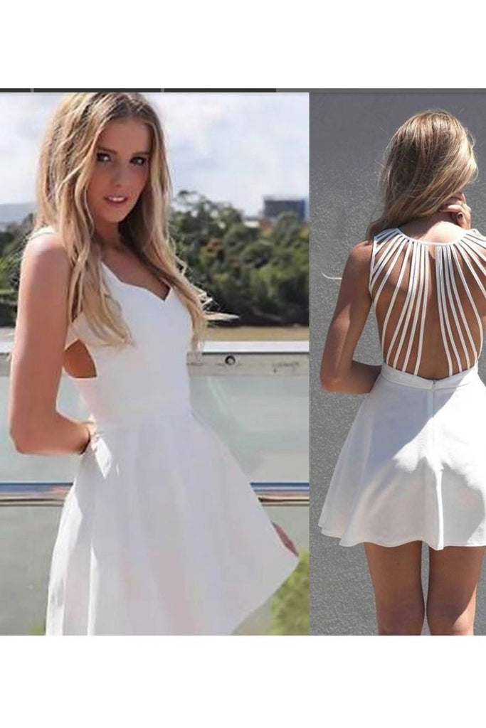 2019 Sexy Open Back Straps Cocktail Dresses A