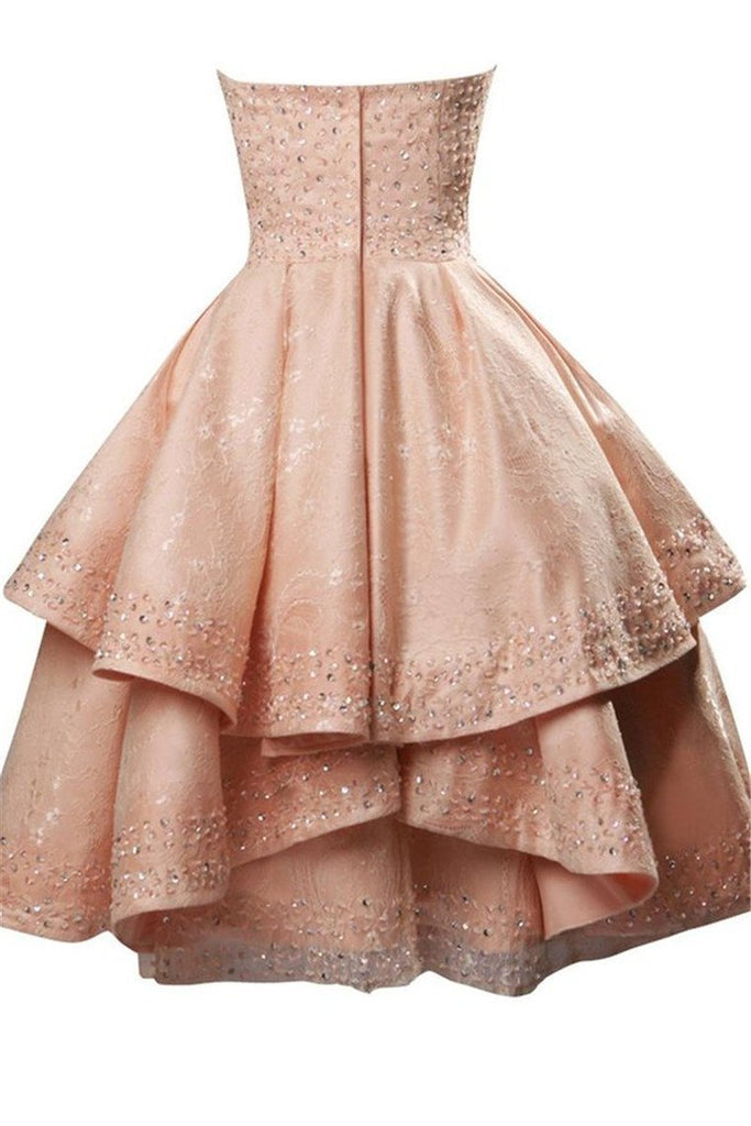 2019 New Arrival Prom Dresses A Line Sweetheart Lace With