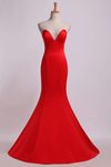 Evening Dresses Sweetheart Mermaid/Trumpet Satin Court Train