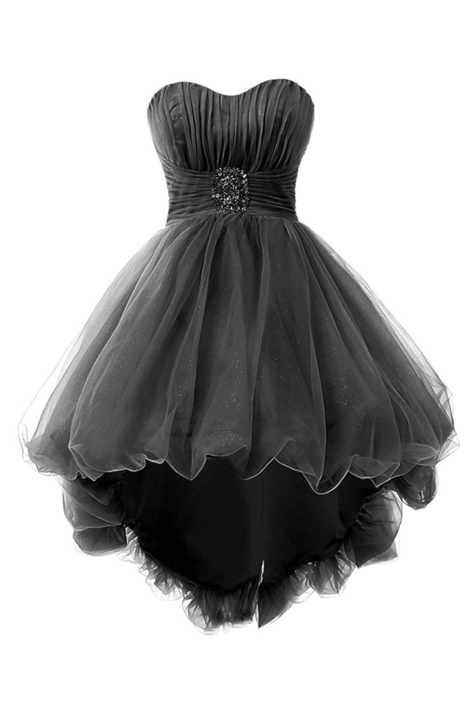 Cocktail Dresses A Line Sweetheart Tulle With Ruffles