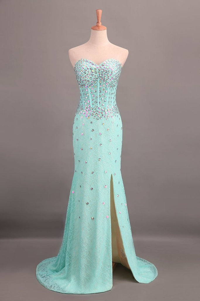 Sweetheart Sheath/Column Prom Dress Lace With