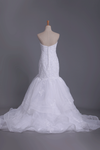 New Arrival Sweetheart Mermaid With Applique And Beads Organza Wedding Dresses