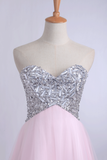 2019 Homecoming Dresses A Line Sweetheart With Beads&Sequins Short/Mini