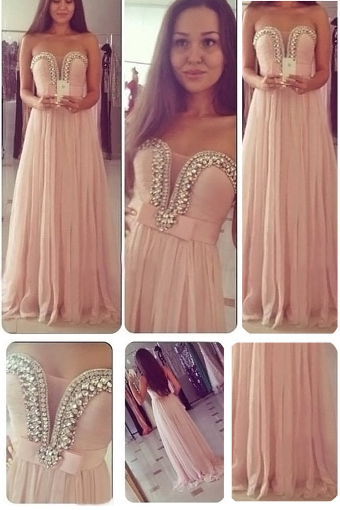 2021 Prom Dresses Sweetheart A Line Chiffon With