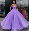 Sweetheart Strapless Yellow Long Modest Prom Gown, Ball Gown Quinceanera Dresses STC15441